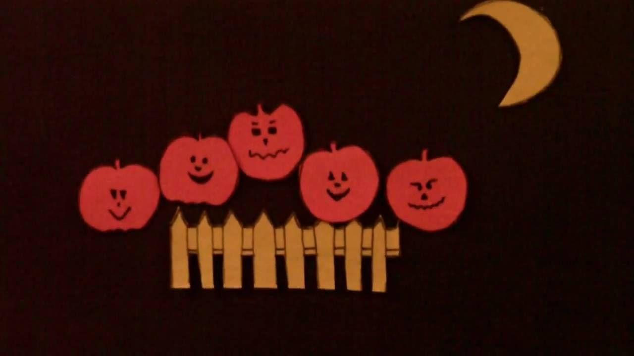 preschool halloween story - 5 little pumpkins - littlestor