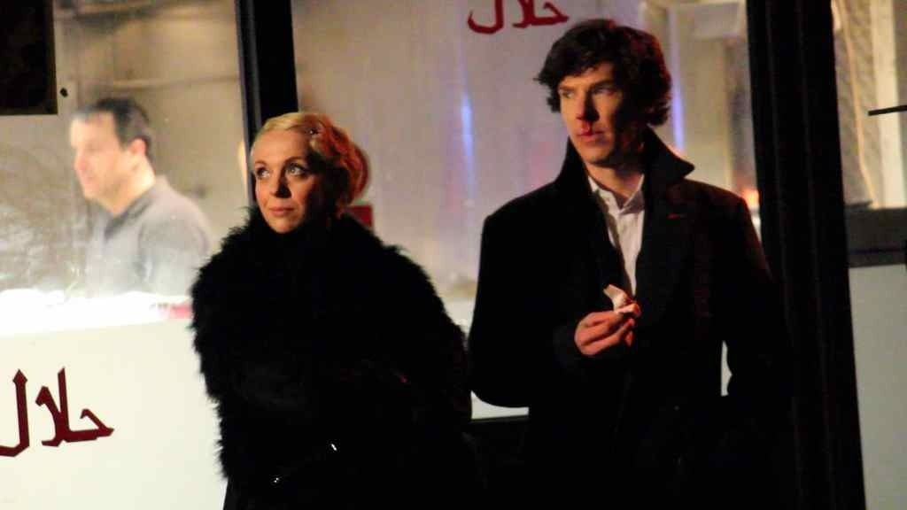 Amanda Abbington and Benedict Cumberbatch.