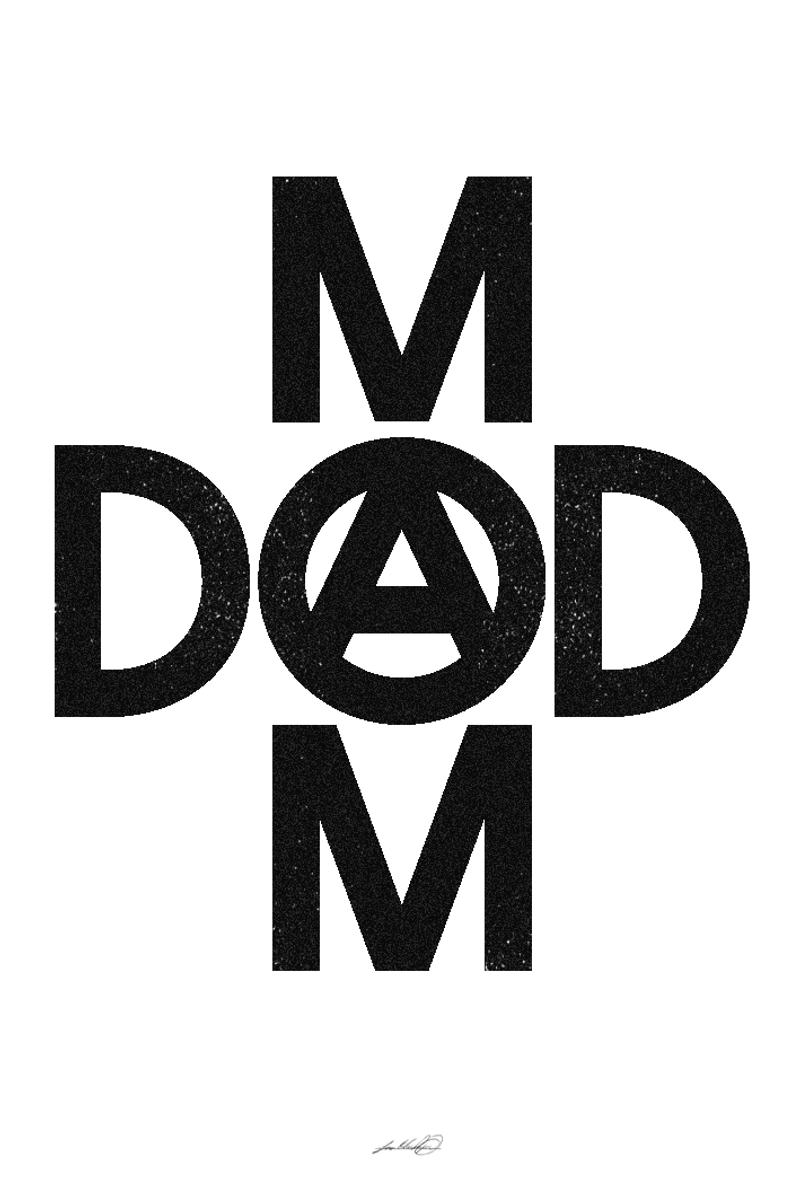 Mom Dad Anarchy Poster On Inspirationde Mom Dad Tattoo Designs Mom Dad Tattoos Dad Tattoos