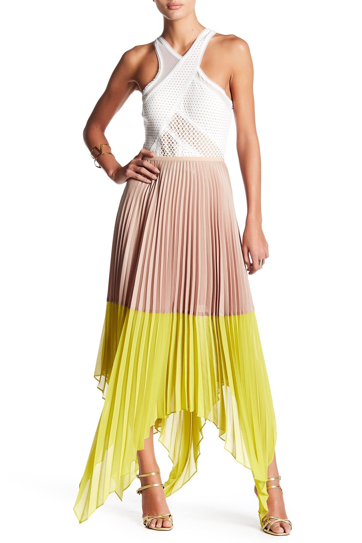2 piece crop top wedding dress  Micro Wet Satin Weave Pleated Skirt  Satin Free shipping and Products