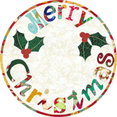 round merry christmas mug rug here s another really quick and