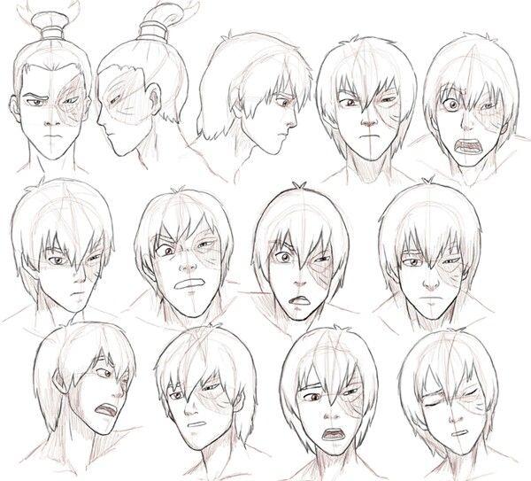 Zuko expression faces