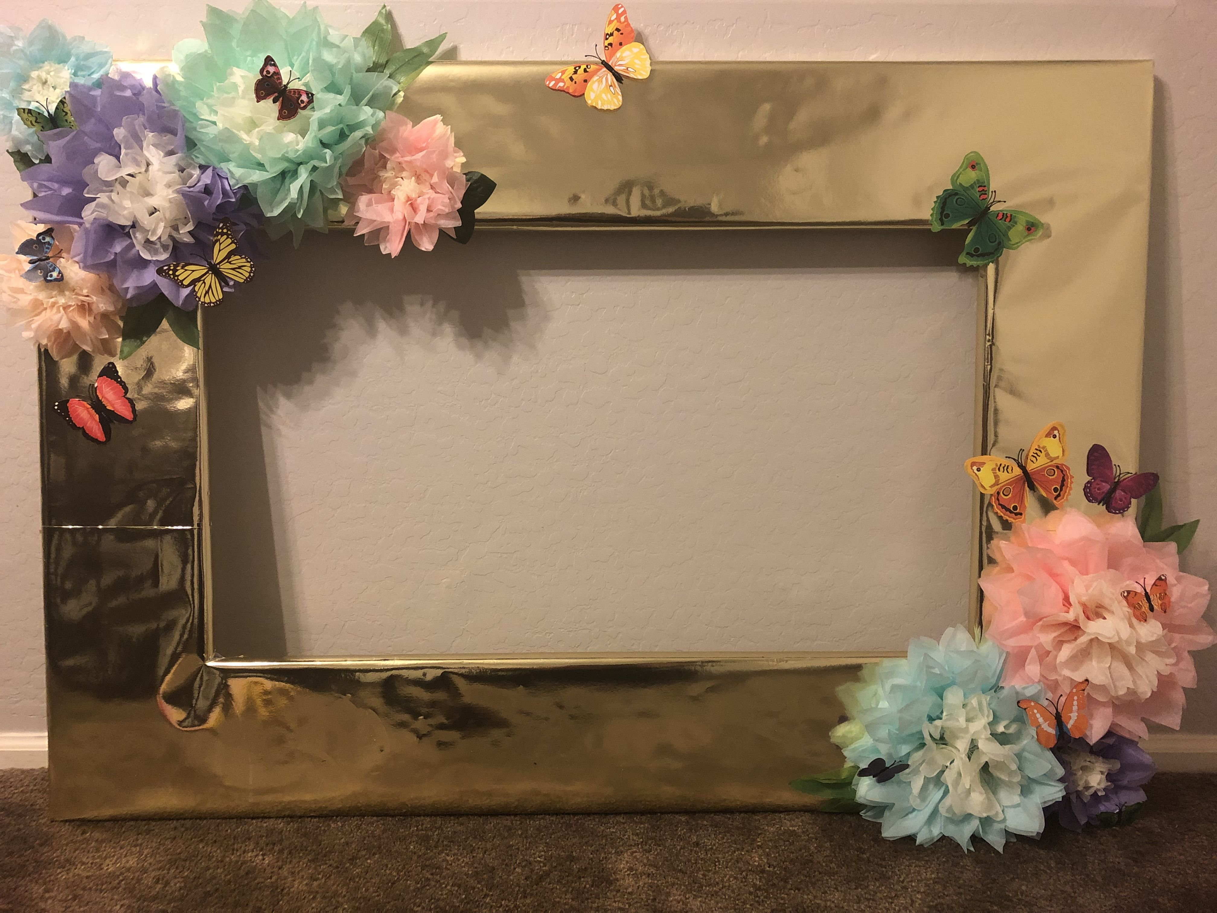 Wrapped With Gold Paper From Hobby Lobby Used Paper Flowers And