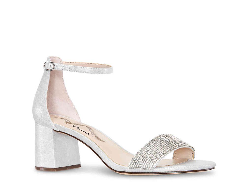 Nina Edria Sandal | Bridal shoes low