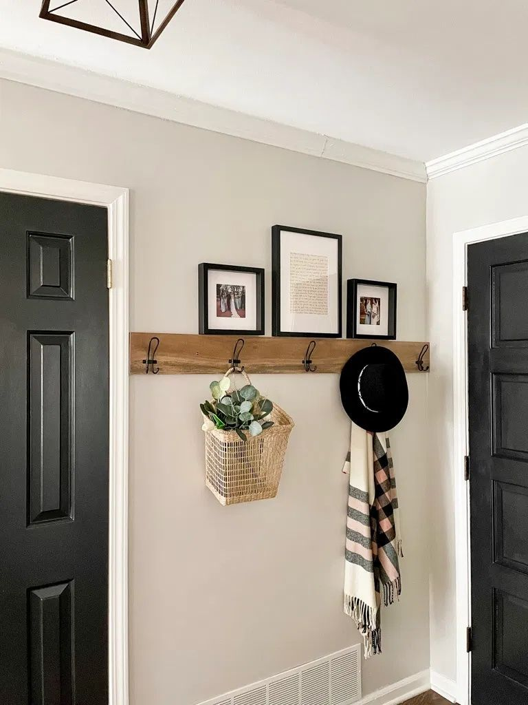 How To: DIY Wooden Entryway Wall Hooks