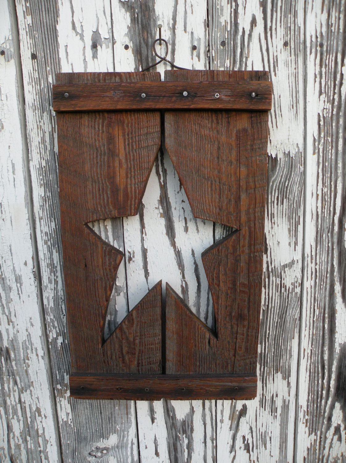 Primitive Star Wall Decor by SouthwindCrafts on Etsy | Living Room ...