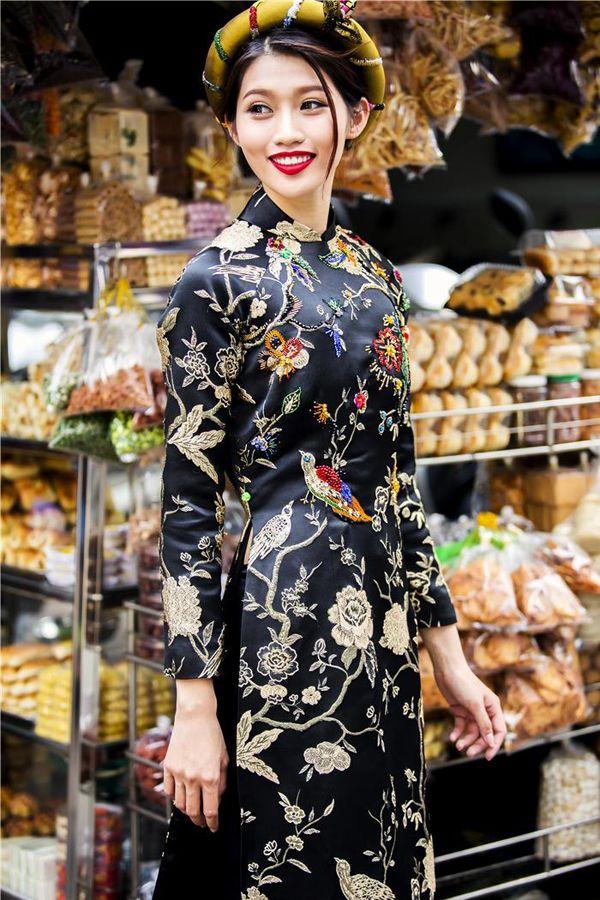 Sao Việt duyên dáng với áo dài khăn đóng - Người đẹp