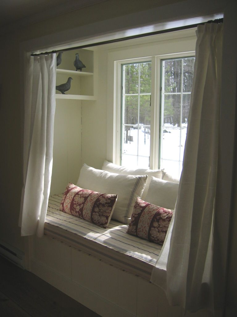 Outside window treatment ideas  comfy winter alcove  where the heart is  pinterest  alcove