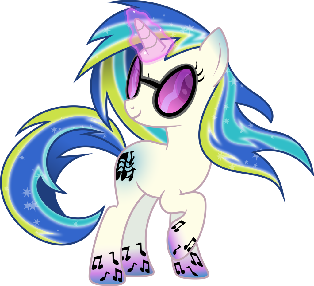 Mlp coloring pages dj pon 3 - Rainbow Power Dj Pon3 By Theshadowstone Deviantart Com On Deviantart
