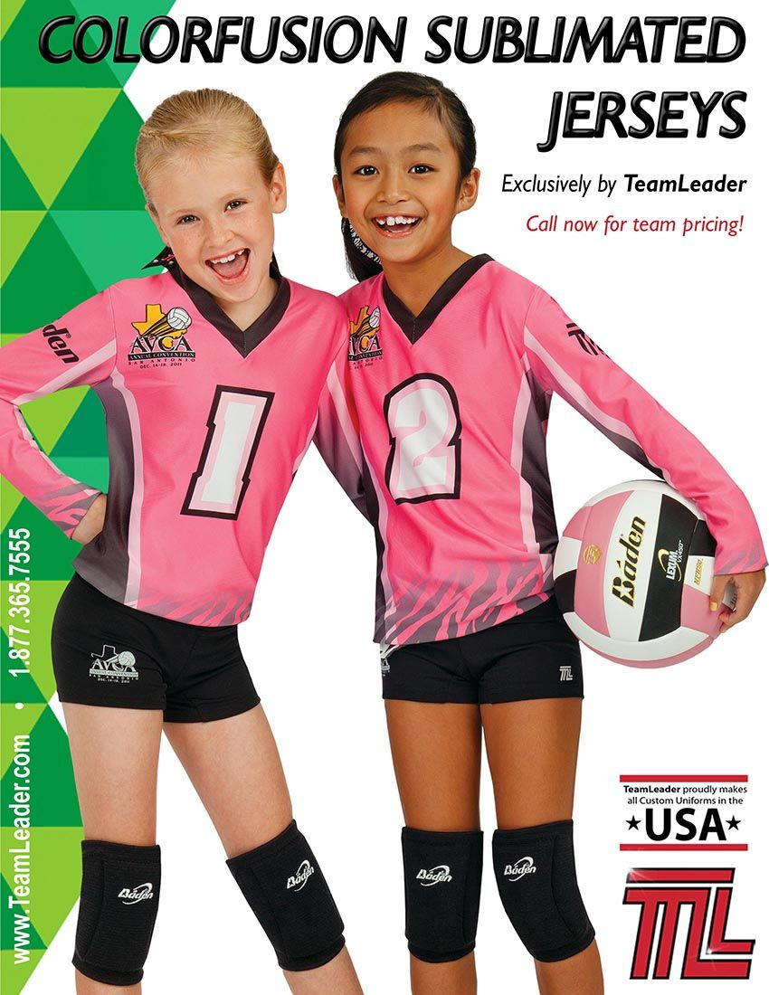 Teamleader Colorfusion Volleyball Uniforms Pink Kids Camisetas Deportivas Voleibol Uniformes Voleibol