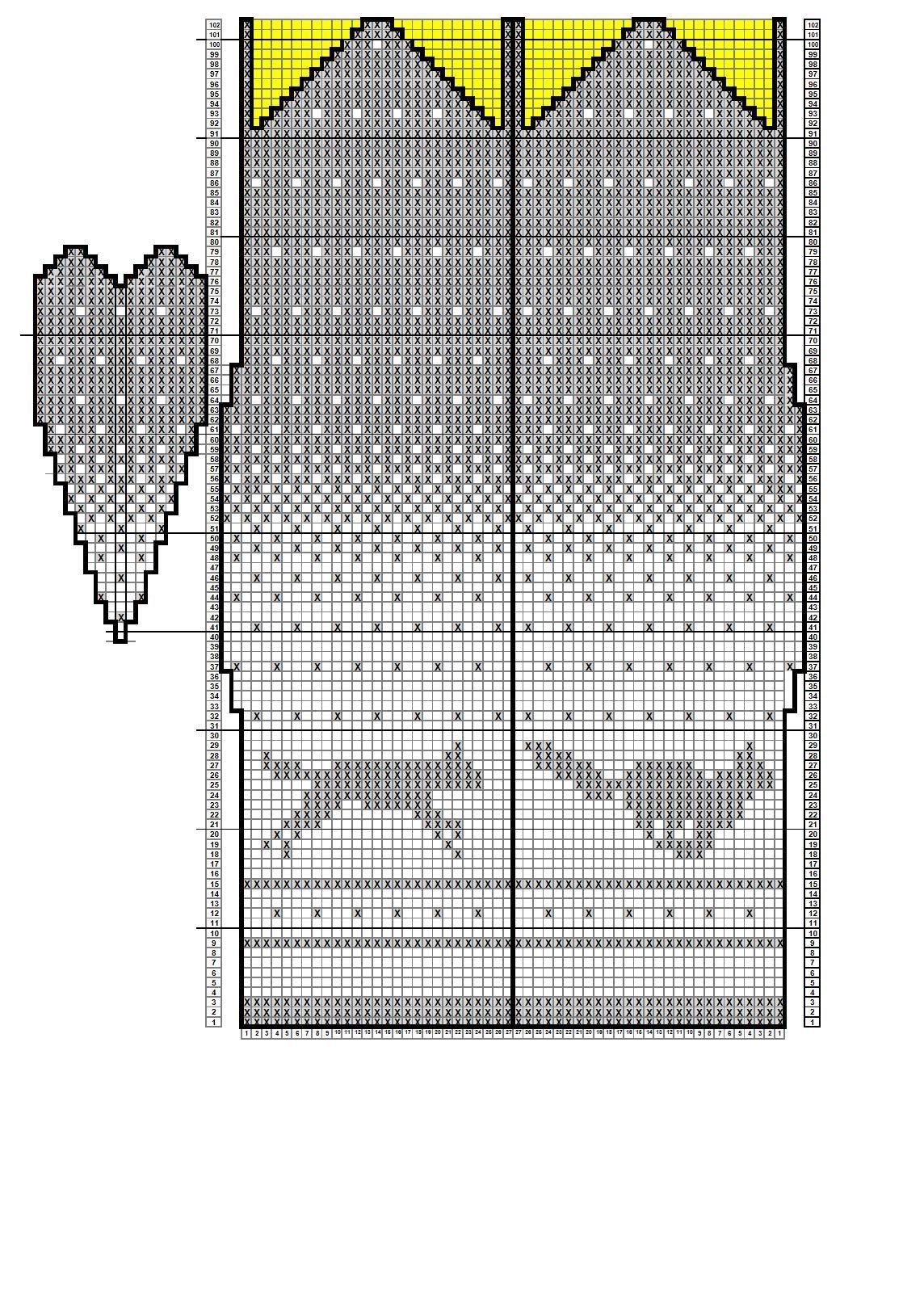 картинки и схемы для вязания варежек