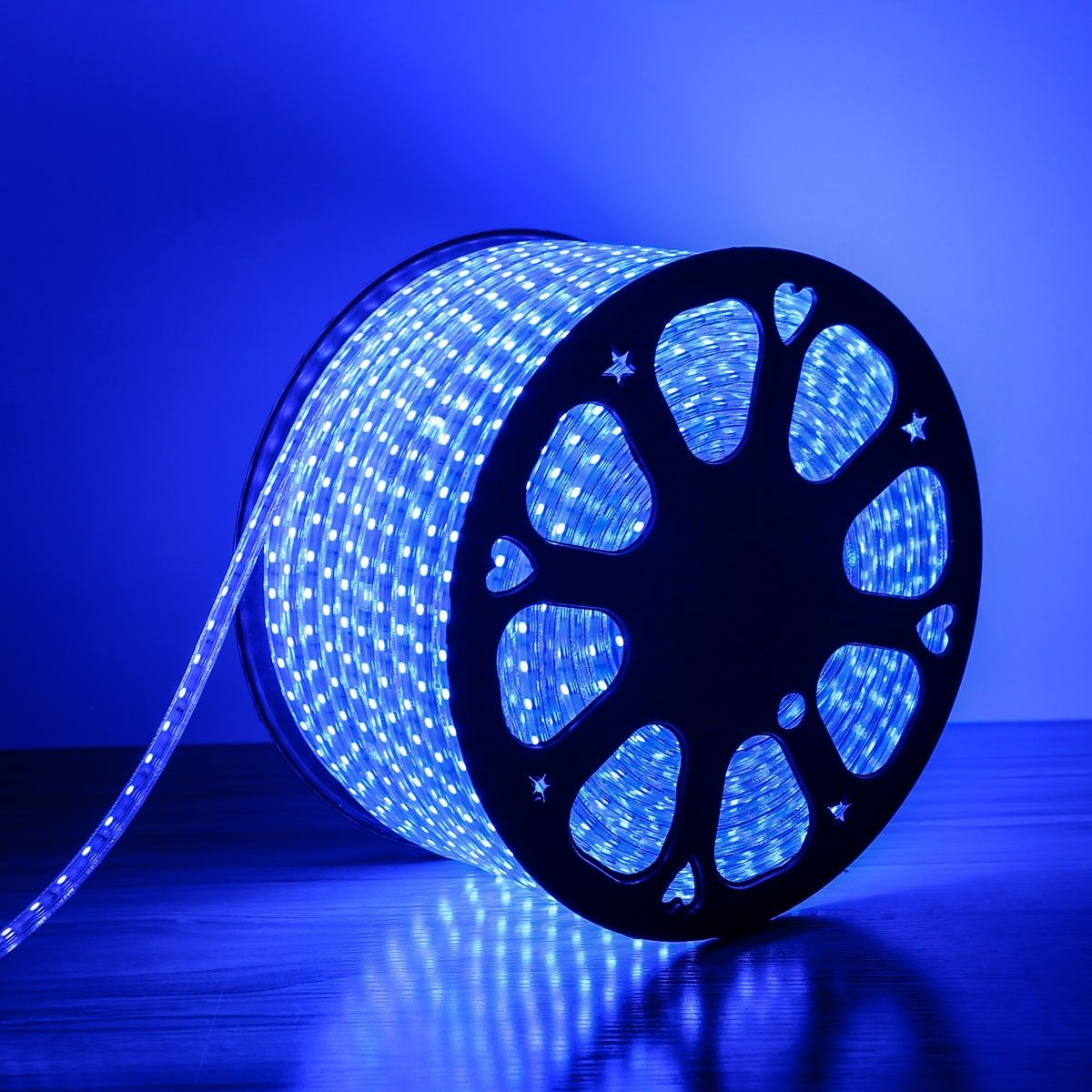 Le 110 120 V Ac Flexible Led Strip Light Kit Blue Waterproof Ip65 Outdoor Christmas Lights Led Tape Led Light Strips 164ft 50m Led Strip Lighting Strip Lighting 12v Led Strip Lights