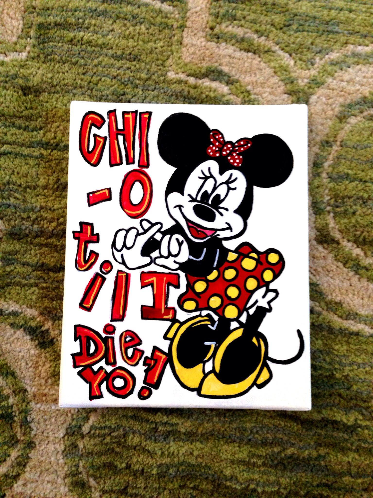 Still obsessed with my Chi O Disney crafts