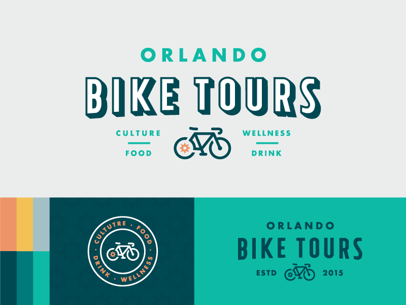 Orlando Bike Tours Rebrand | Logos and Business cards