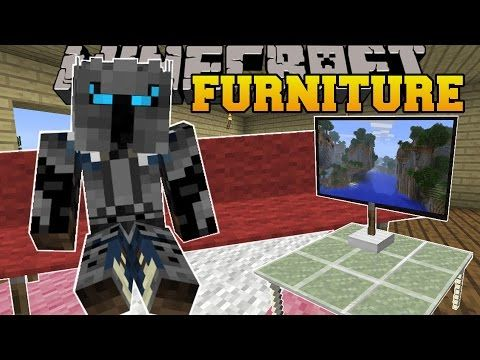Minecraft: FURNITURE! (COUCHES, TABLES, TV, CHAIRS, LAMPS, & MORE