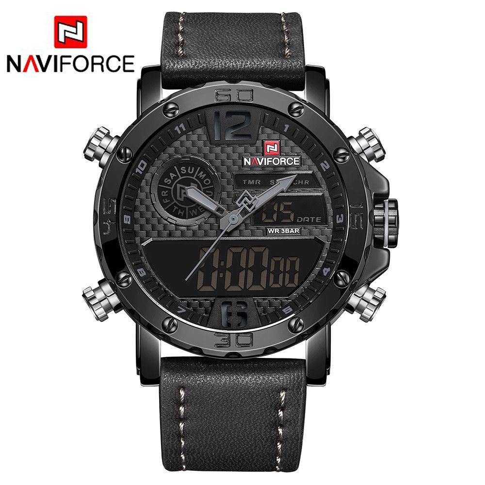 Reloj De Pulsera Naviforce 9134 Hombre Militar Luxury Watches For Men Mens Watches Leather Watches For Men