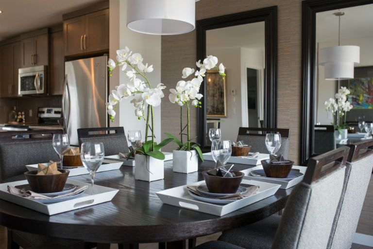 Projects Rochelle Cote The Dining Room From The Rundle Show Home Home Interior Design Interior Design Firms Residential Design
