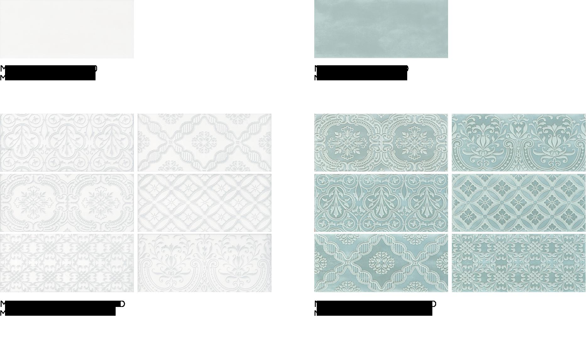 Maiolica White & Maiolica Aqua - Ceramic Wall Tiles by ...