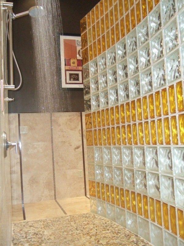 blocs de douche en verre pour regard intéressant salle de bains