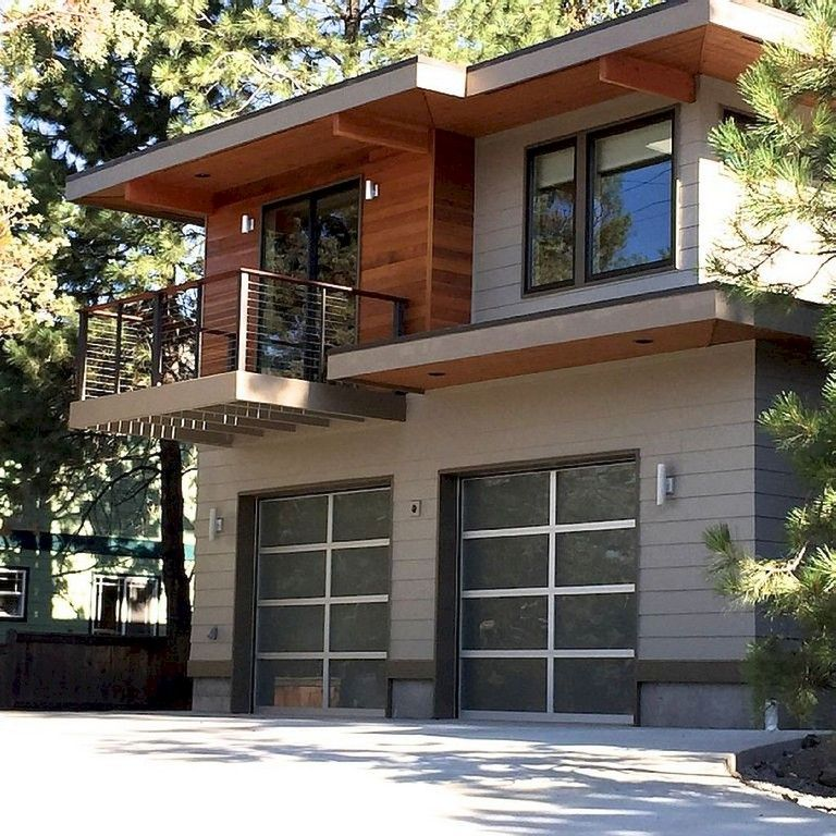 33+ Awesome Modern Garage Apartment Designs Ideas