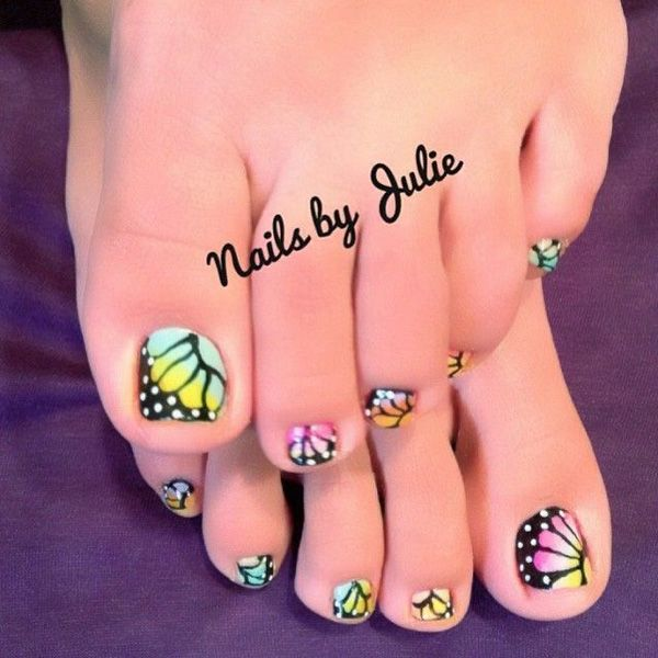 50 Pretty Toenail Art Designs | Daisy flowers, Gradient color and ...