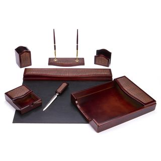 Daco Black And Burgundy Leather Desk Pad With Felt Bottom Ping The Best Deals On Pads