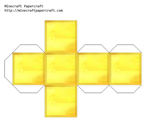 Papercraft Gold Block Minecraft Printables Minecraft Crafts Minecraft Blocks