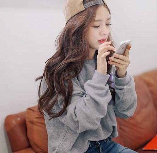 Natural Wavy Hair Ulzzang Fashion Fashion Korean Fashion