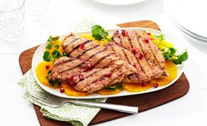 Grilled Pomegranate Butterflied #Chicken Breasts are the perfect blend of sweet and juicy at dinner.