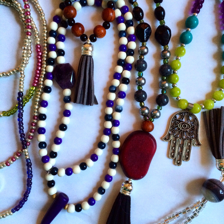#tassel #boho #fashion #necklaces @puckjewelry on Instagram