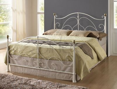 Birlea Milano 4ft Small Double Cream Metal Bed Frame Wee Lodge