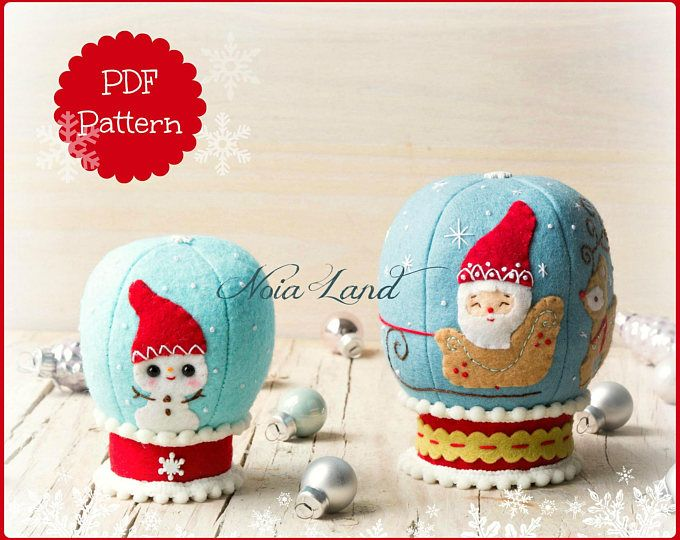 PDF Pattern. Christmas balloons. Rudolph and the Snowman | Fieltro y ...