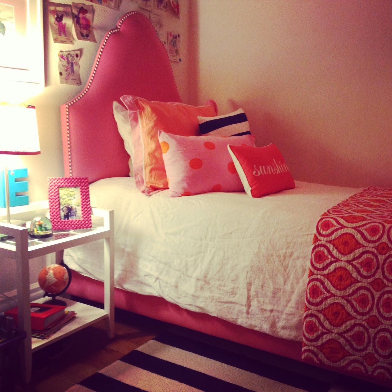 Beautiful Pink Bed Frame Designs Collection For Girls Room