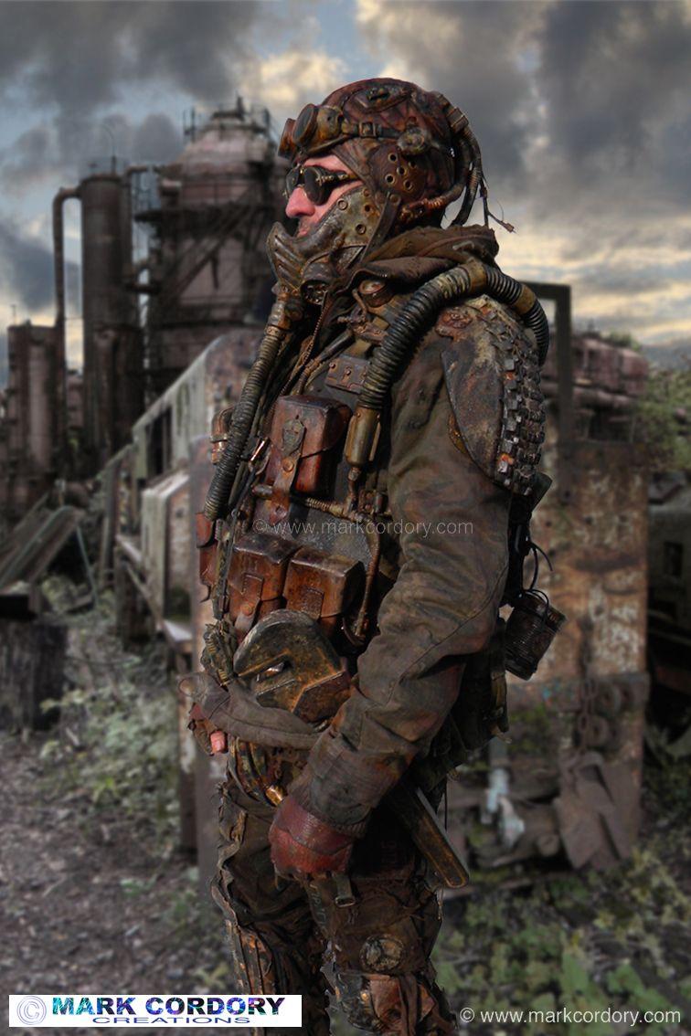 Post apocalypse mad max style larp costume mark cordory for Post apocalyptic decor