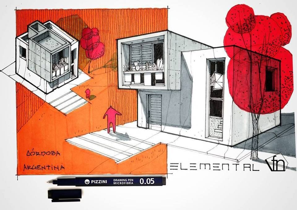 Architectural flow surrealist home illustrations by neyra sketch architecture pinterest sketch architecture and architecture