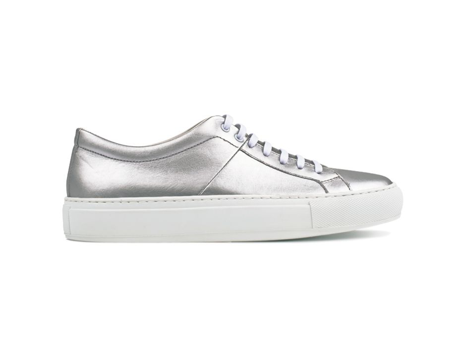 Blucher 01 Leather Silver