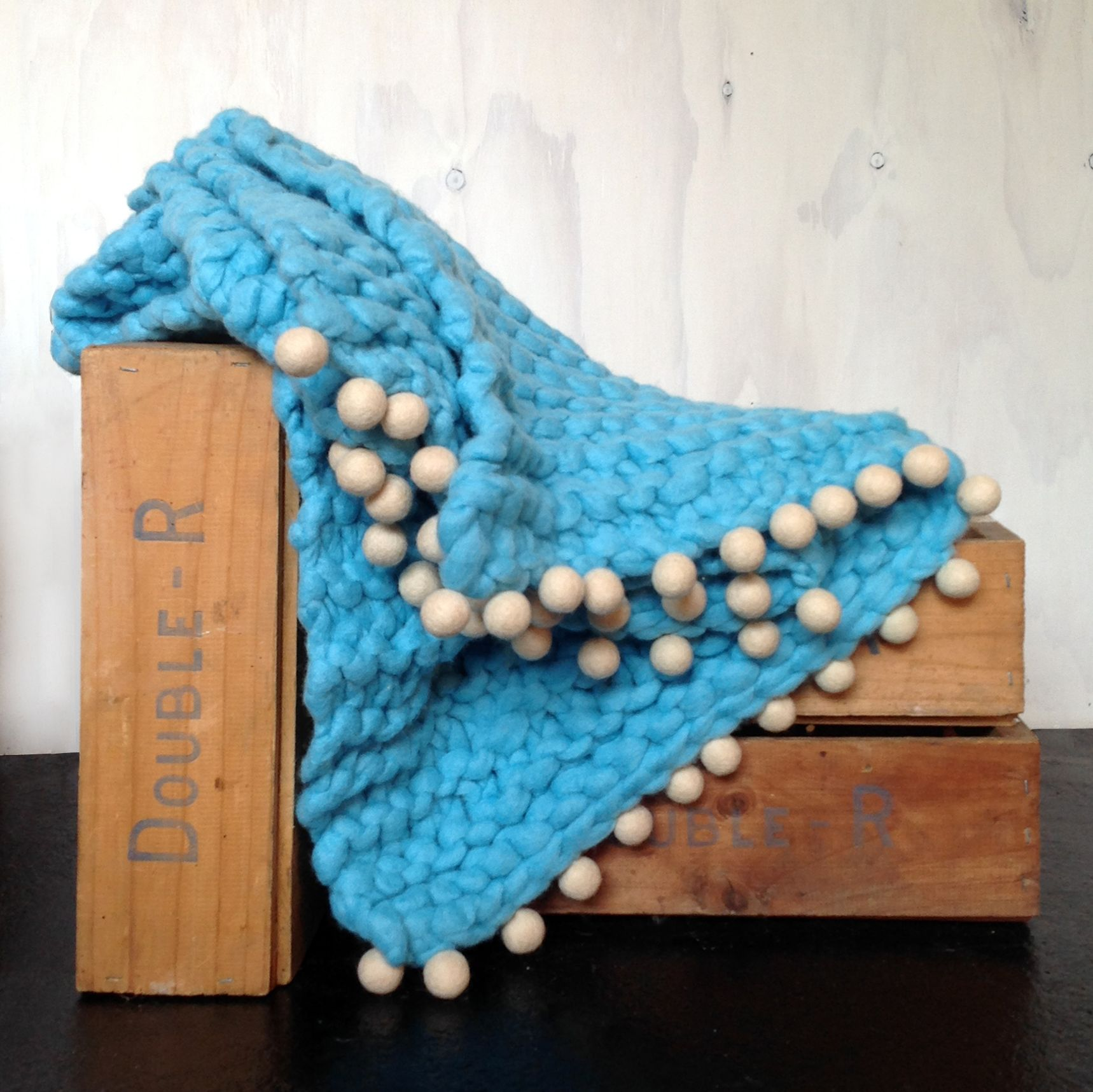 Turquoise Throw from chaingangstore.co.nz Knitted throws