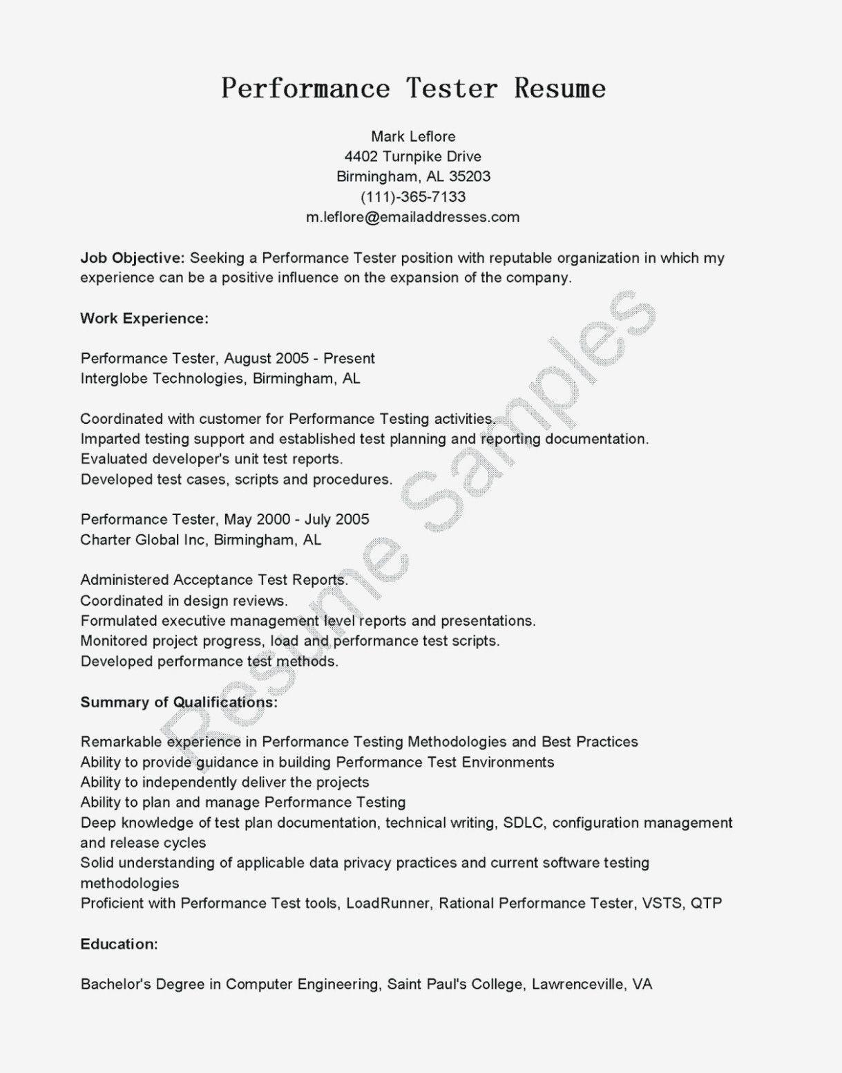 Qa Tester Resume No Experience Popular 10 Qa Tester Resume No Experience Of 25 Popular Qa Tes Resume No Experience Resume Resume Advice