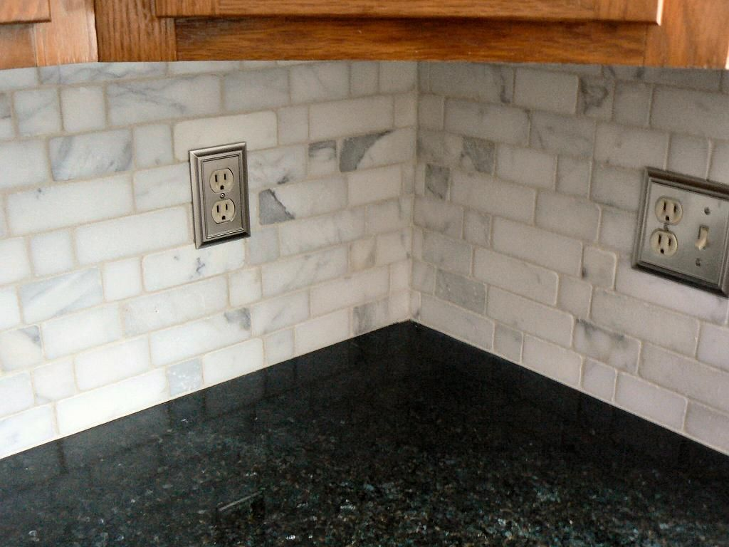 Tumbled Marble Backsplash Tumbled Marble Backsplash 1