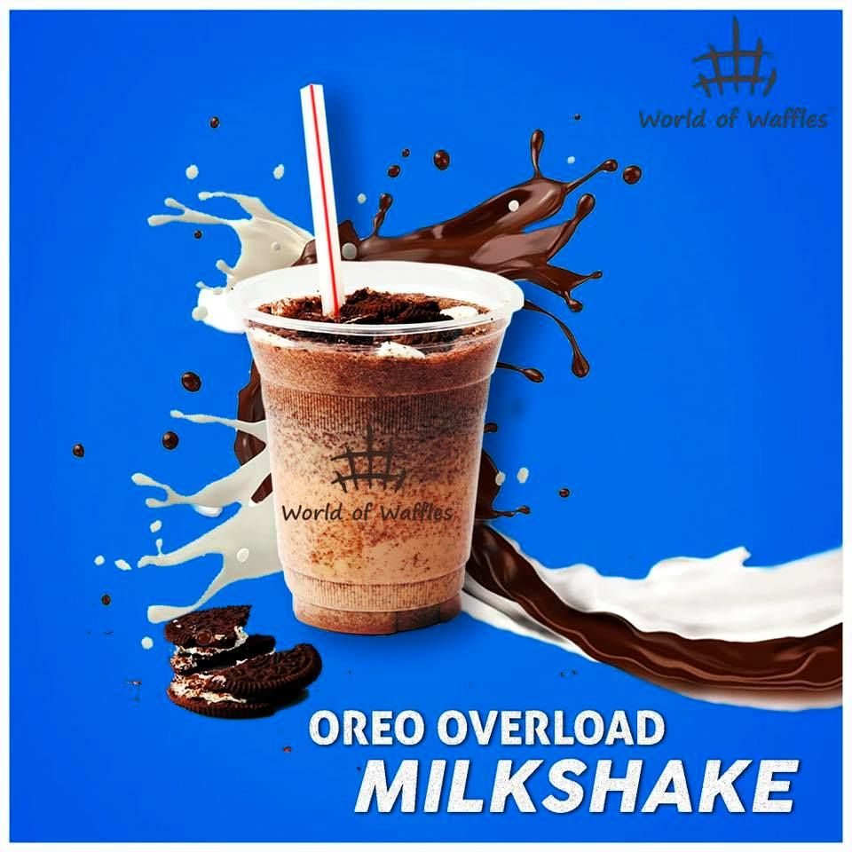 Oreo Overload Milkshake A treat to all Oreo lovers! Enjoy our lip smacking Oreo Overload Milkshake at