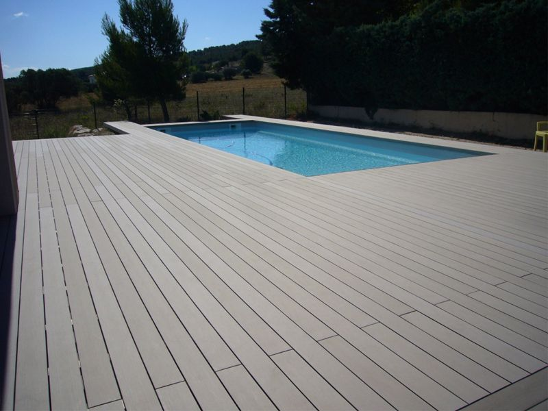 Plank Pool Deck : Easy clip decking with textured non slip composite planks