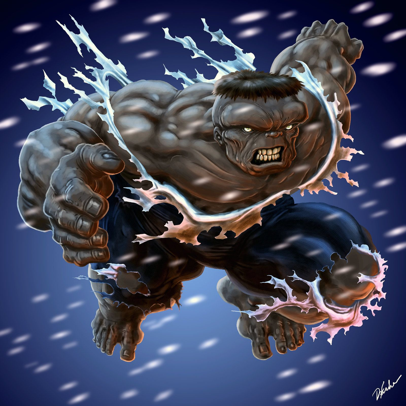 #Hulk #Fan #Art. (Gray Hulk) By: DavidWFisher. (THE * 5 * STÅR * ÅWARD * OF * MAJOR ÅWESOMENESS!!!™)