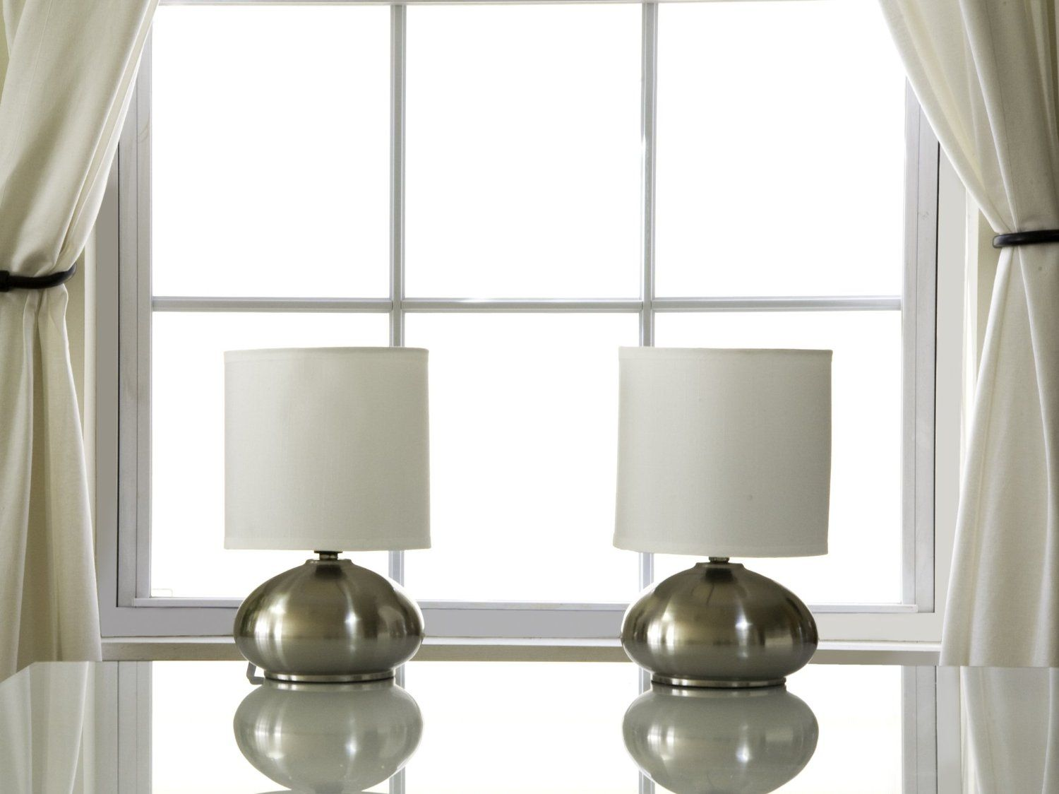 Light Accents Bedroom Side Table Lamps With On Off Touch Sensor Brushed Nickel Set Of 2 Table Lamps For Bedroom Side Table Lamps Bedroom Side Table Lamps