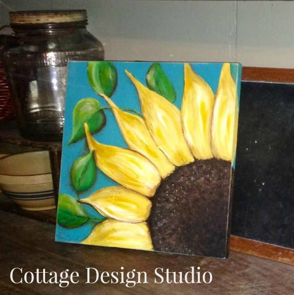 sunflower painting, sunflower wall decor, Summer decor. Spring decor ...