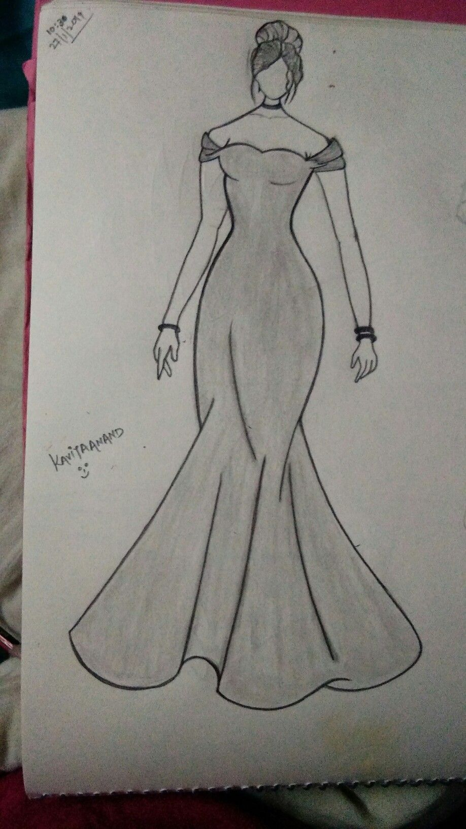 Pin By Cindy On Made By The Kkavita Anand Fashion Drawing Sketches Fashion Design Drawings Dress Design Drawing