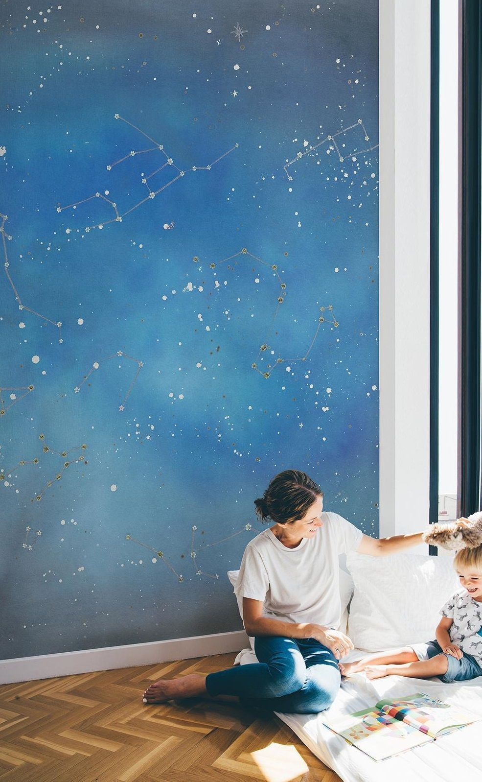 This Constellations Starry Night Sky Wallpaper Mural Is Perfect
