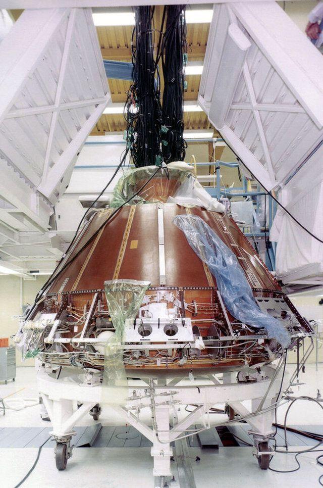 The Apollo 11 command module, no. 107, under construction ...