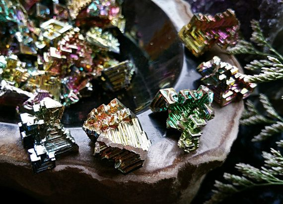 Rainbow Bismuth, Metalloid, All Chakras, Neutrality, Balance, Organization, Metaphysical Crystal, Healing Crystal, Altar, Meditation