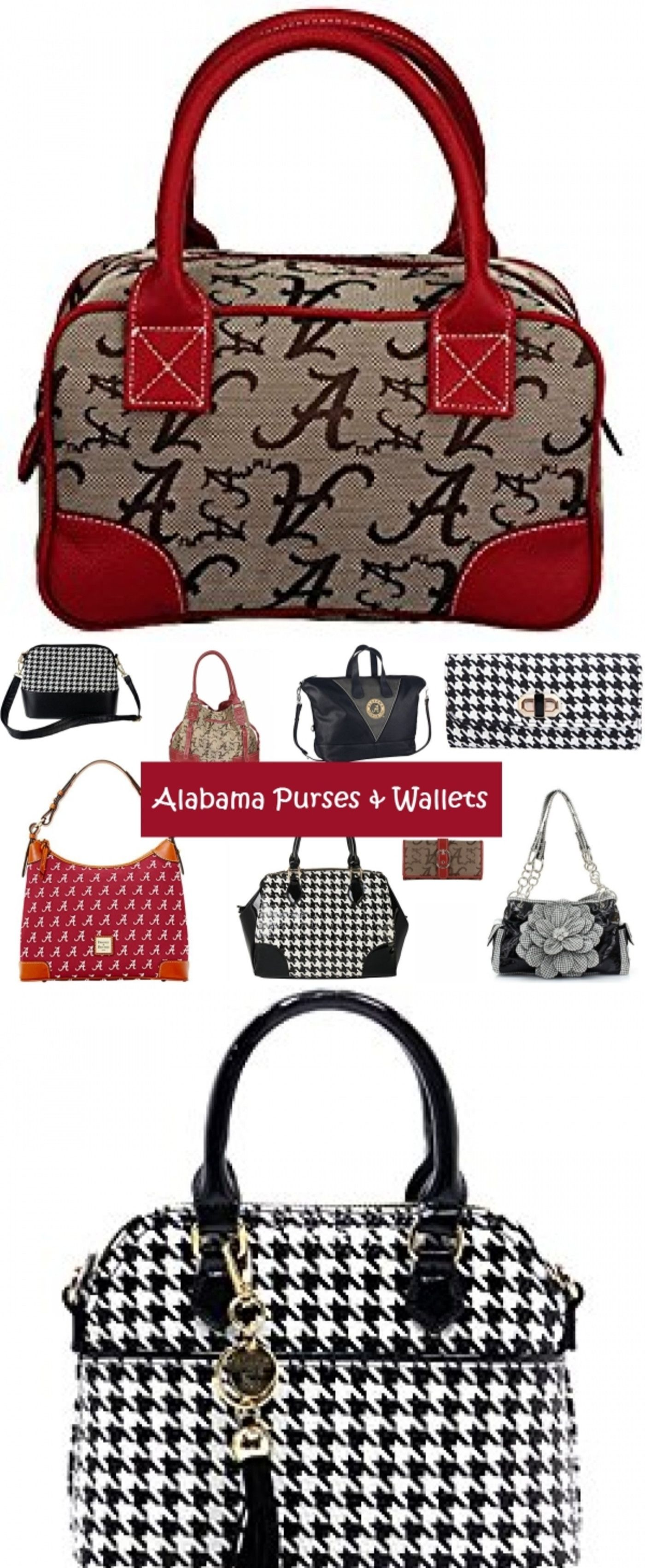 Alabama Crimson Tide Purses Wallets And Handbags I Want Them All Roll University Of Houndstooth Fan Gear For Women Alabamacrimsontide