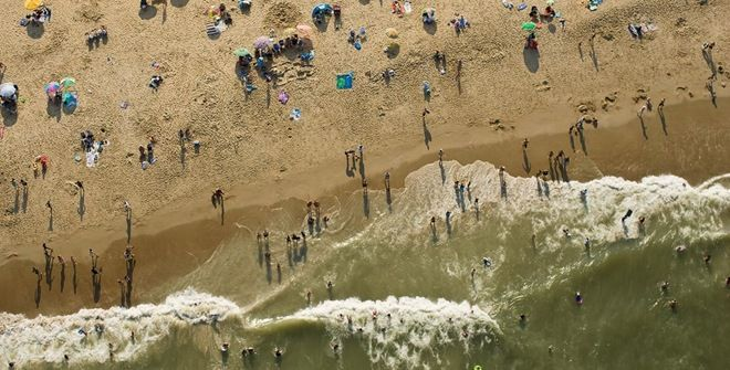 The Beach. Aerial photography by Cameron Davidson.